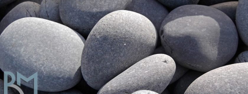Black Beach Pebbles - Grey Landscape Pebble Stone