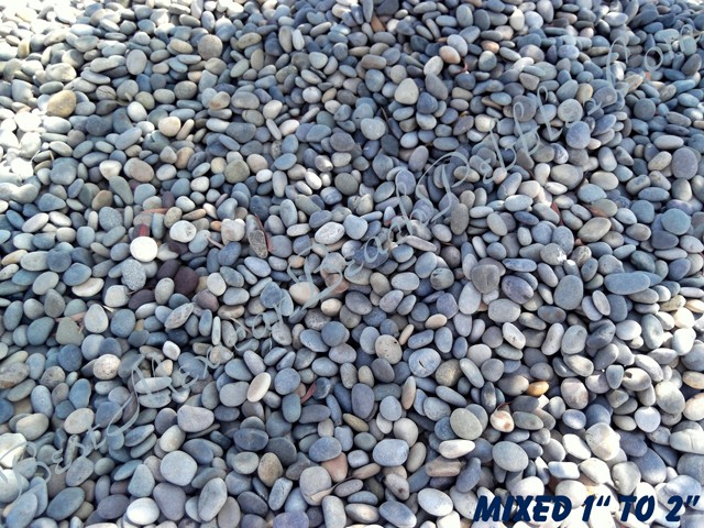 Mexican beach pebbles polished beach pebbles river for Beach rocks for landscaping