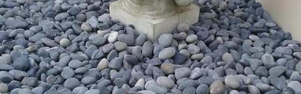 Black Beach Pebbles River Rock Landscape Stone